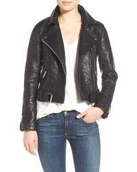 ELEVEN PARIS - 'pistol' Faux Leather Moto Jacket - Lyst