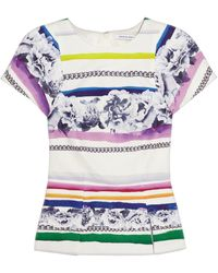 Camilla & Marc Printed Cotton and Silkblend Top - Lyst