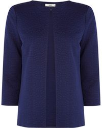 Oasis Blue Jacquard Jacket - Lyst