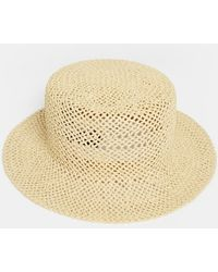 SELECTED - Bucket Straw Hat - Lyst