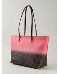 Fendi Ff Logo 'Roll' Bag Tote - Lyst