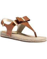Michael Kors Michael Meg Thong Flat Sandals - Lyst