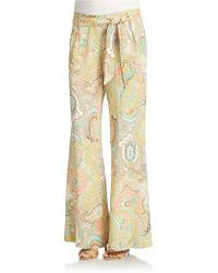 Jessica Simpson - Kensington Paisley Print Trousers - Lyst