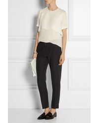Elizabeth And James Tulsi Layered Silk-Crepe Top - Lyst
