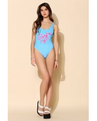 Yes Master - Graphic Onepiece Swimsuit - Lyst