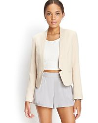 Forever 21 Collarless Notched Blazer - Lyst