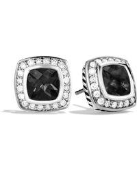David Yurman Petite Albion Earrings With Diamonds black - Lyst