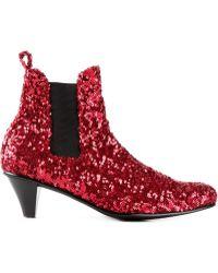 Comme des Garçons Paillette-Embellished Boots - Lyst