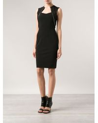 Yigal Azrouel Compact Zipper Dress - Lyst