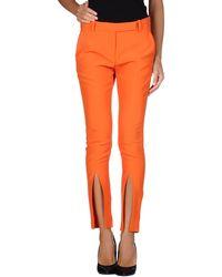 Alexander McQueen Orange Casual Pants - Lyst