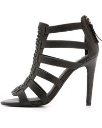 Joe's Jeans - Pearce Caged Sandals - Black - Lyst