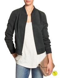 Banana Republic Factory Soft Baseball Jacket - Lyst