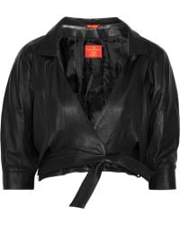 Vivienne Westwood Red Label Cropped Leather Jacket - Lyst
