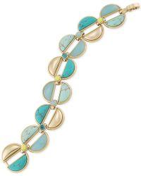 Carolee - Gold-tone Multicolor Stone Bracelet - Lyst