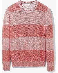 Mango Man Reverse-Knit Cotton Sweater - Lyst