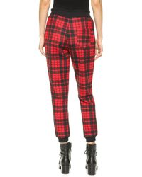 Re:named - Quilted Plaid Jogger Pants - Off White/Black - Lyst