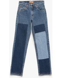 Need Supply Co. B Sides Patchwork Denim Medium blue - Lyst