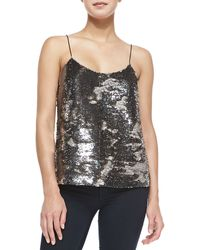 Ted Baker Alodie Sequined-front Cami - Lyst