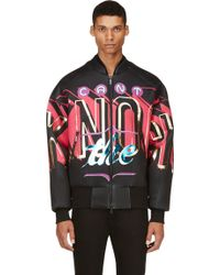 Juun.j Black Cant Knock The Hustle Bomber Jacket - Lyst