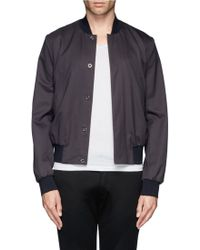 Paul Smith Twill Bomber Jacket - Lyst