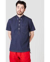 Relwen - Split Tail Pullover Shirt Navy Dot - Lyst