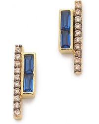 Tai - Row Earrings - Montana/gold - Lyst