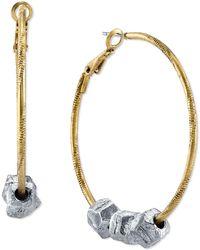 Tru. - Two-tone Slider Hoop Earrings - Lyst