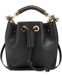 Chloé Leather Bucket Bag black - Lyst