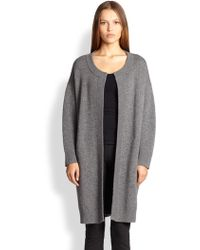 Burberry London Wool & Cashmere Pleated-Back Cardigan - Lyst