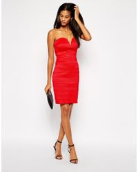 Tfnc Bandage Bardot Dress - Lyst