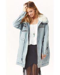 Somedays Lovin Rigid Denim Jacket - Lyst