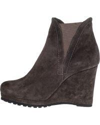 Vaneli For Jildor Jamilla Wedge Boot Grey Suede - Lyst