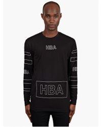 Hood By Air Mens Black 69 Logo Print Lightweight Sweatshirt - Lyst