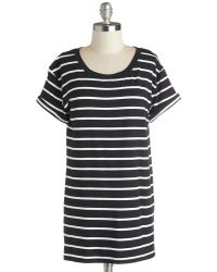 Sunny Girl Pty Lltd Simplicity On A Saturday Tunic In Black Stripes black - Lyst