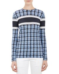 Derek Lam Plaid & Stripe T-Shirt - Lyst