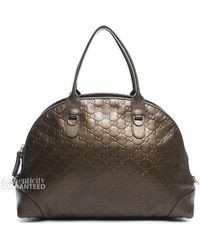 Gucci Pre-Owned Bronze Ssima Heart Bit Top Handle Dome Bag - Lyst