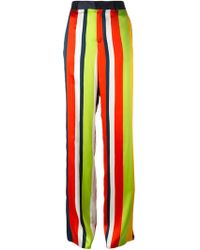 DSquared² Wide Leg Striped Trousers multicolor - Lyst