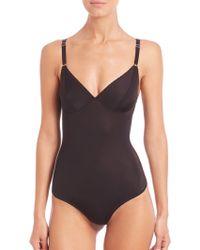 Fortnight Ara Cut-Out Back Bodysuit black - Lyst