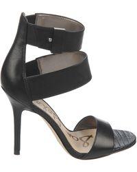 Sam Edelman Addie High-Heel Leather Sandals - Lyst