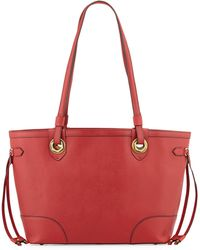 orYANY Amber East-West Saffiano Leather Tote Bag red - Lyst
