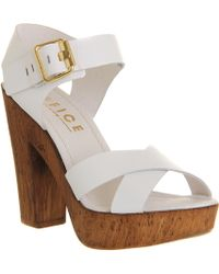 Office Jamaica Wood Sandal - Lyst