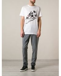 Lanvin Madness Wolf Print Tshirt - Lyst