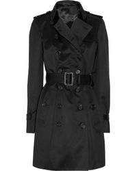 Burberry Prorsum Mid-length Cotton-sateen Trench Coat - Lyst