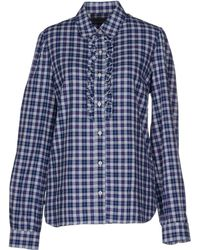 Barbour Shirt blue - Lyst