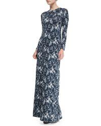 Rachel Pally Stormy Long-sleeve Printed Maxi Dress - Lyst