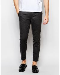 Lindbergh - Slim Trousers With Elasticated Waist - Lyst