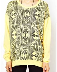 A Question Of - Organic Oriental Print Sweat - Lyst