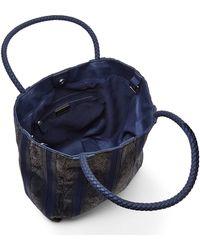 Big Buddha - Blue Kay Chevron Stripe Tote - Lyst