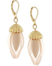 BCBGeneration - Gold-tone Flower Drop Earrings - Lyst