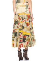 Jean Paul Gaultier Printed Maxi Skirt - Multi - Lyst